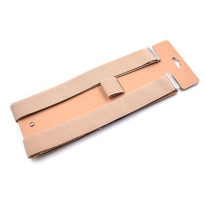 Mens Adjustable 35mm Wide Trouser Belt Suspender Elastic Leather Button Braces 5