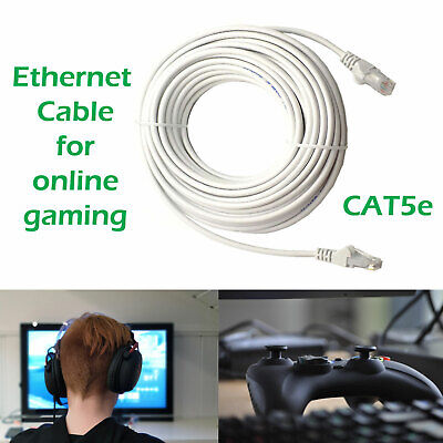Ethernet Cable PC Gaming Xbox PS4 Network Patch Lead RJ45 Cat5e 0.5 to 50m LOT 3