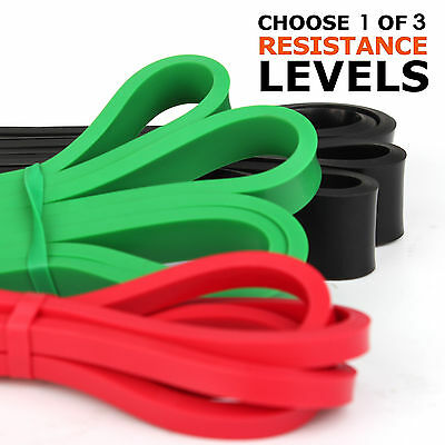 5 Level Resistance Exercise Loop Yoga Bands Home Gym Fitness 100% Natural Latex 2
