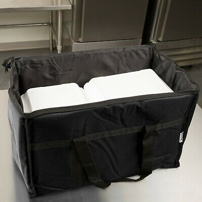 TWO Insulated BLACK Catering Delivery Food Full Pan Carrier Hot Cold Cooler Bag 5