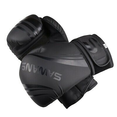SAWANS® Leather Boxing Gloves Professional MMA Sparring Punch Bag Training Fight 10