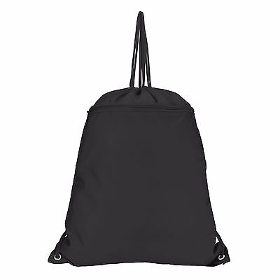 8ce414469c4f DRAWSTRING BACKPACK SACK Pack with Zipper in Black