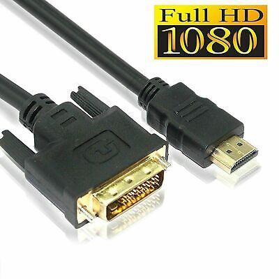Câble adaptateur DVI vers HDMI de 1.8m câble DVI-D GOLD 24+1PIN 5