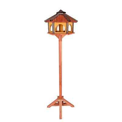 Mangeoire d'oiseaux mangeoires à oiseaux mangeoire avec le support bois jardin 2