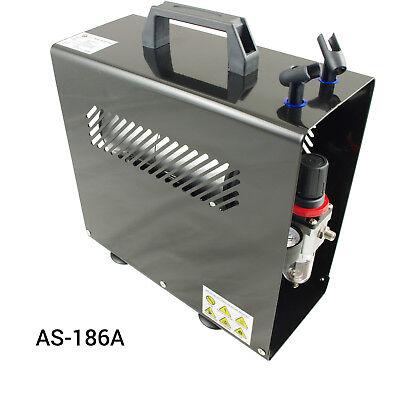 Airbrush Kompressor Airbrushpistole Komplett-Set Double-Action Pistolen Halter 5
