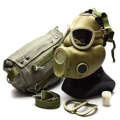 Polish Military Gas Mask MP-4 Genuine respiratory chemical Grey Olive OD NEW 9