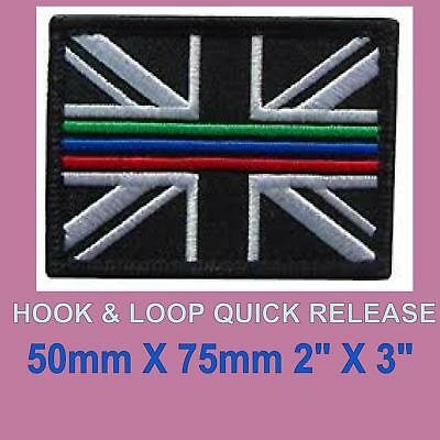 THIN GREEN LINE PATCH UNION JACK HOOK AND LOOP EMERGENCY SERVICES UK seller