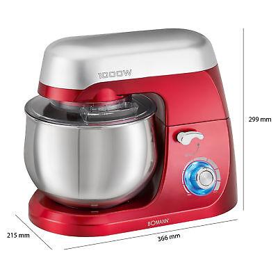 Robot cocina multifuncion batidora amasadora reposteria 5L 1000W Bomann KM 6009 7