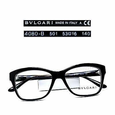 199bd4369d50 ... BVLGARI 4080-B 501 Crystal Eyeglasses Rx Eyewear Made in Italy - New  Authentic