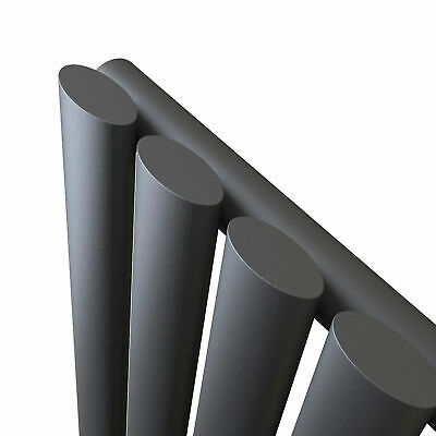 Designer Vertical Oval Column Tall Upright Central Heating Radiator Anthracite 6