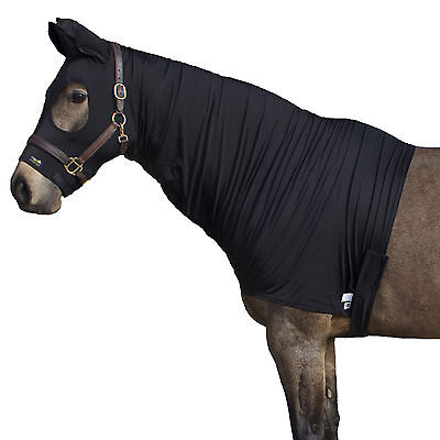 Snuggy Hoods Shiny Show Stretch Lycra Horse Hoods-8 Sizes-3 Colours-Zip/Pull On 2