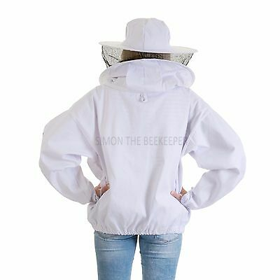 Beekeeping bee jacket with Round Veil - Kids Small 3