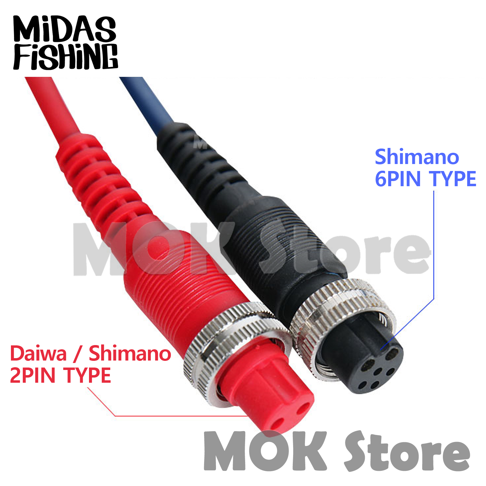 For Daiwa Shimano Electric Fishing Durable PowerCord Cable Reel Connectors Part