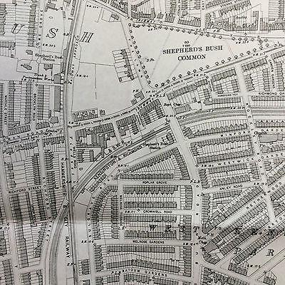 Old Ordnance Survey - the Godfrey Edition - Holland Park & Shepherds Bush 1894 3