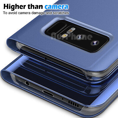 Galaxy S9 S8 Plus Note 9 S7 A8 J5 J2 Pro J8 Cover Mirror Flip Case for Samsung 7