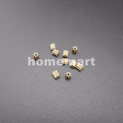 10PCS Brass Gear 0.3 Modulus 7 Teeth Aperture 1mm (0.95MM) DIY Model Accessories