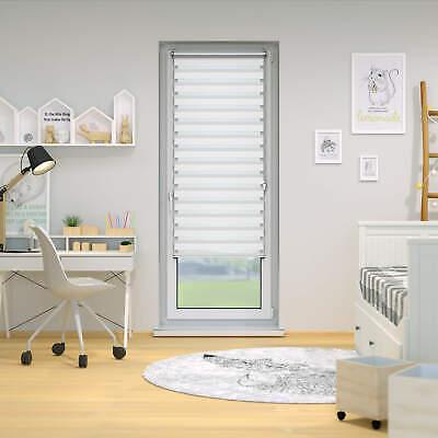 Estor enrollable doble día y noche para ventanas y puertas blanco Victoria M 7