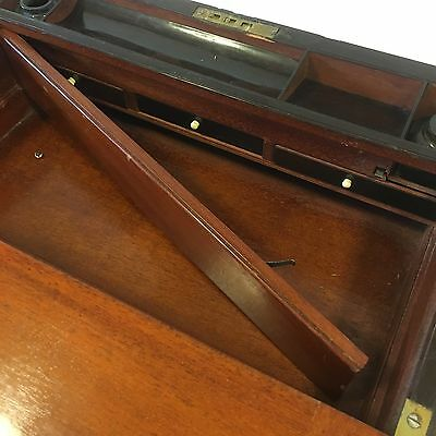 Fine Quality Antique Victorian Rosewood Mother Of Pearl Writing Slope Damage 7