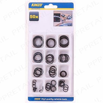 50Pc ASSORTED O-RINGS Plumbing Valve Seals Taps/Pipes Kitchen Bathroom Washers