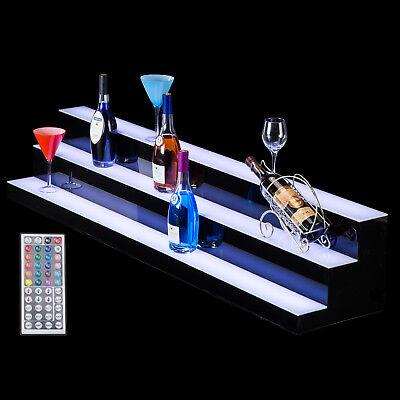 "60"" 3 LED Liquor Bottle Display Shelf Wine Rack Bar Supply Stand Wireless Remote 6"