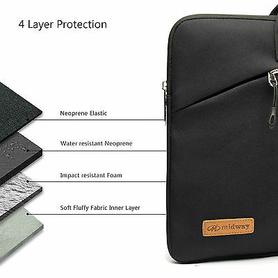 Shockproof 13 14 15.6'' Laptop Sleeve w/4 zipper Pocket&Handle Notebook Bag Case 7
