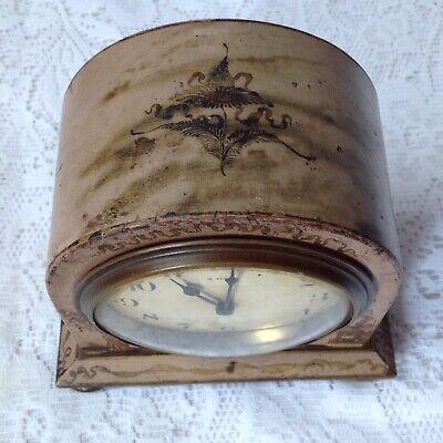 Antique Japanned Bayard D-B. 8 Day Lever Movement French Clock 7