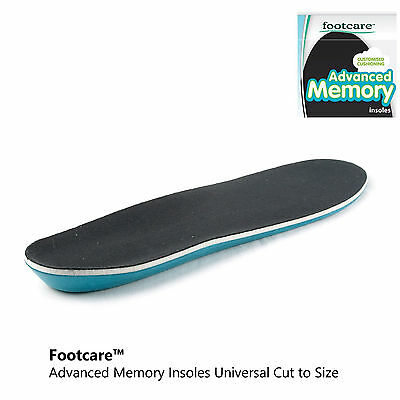 088810f668dc 2 of 4 Footcare by Maseur® Advanced Memory Foam Insoles Universal Mens UK  7-12 US