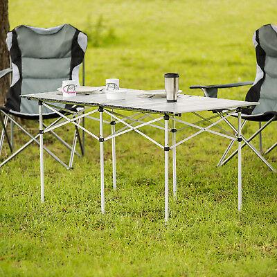 Table de camping de jardin pliable pliante en aluminium portable XXL 140x70x70cm 7