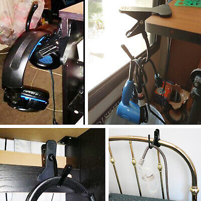 under desk headphone mount hanger Universal Gaming DJ Gamer Headphone Stand Rack 2