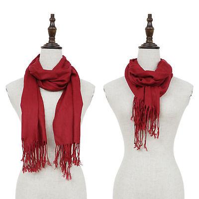 Fashion Womens Lady Girl Pashmina Warm Soft Solid Long Pashmina Shawl Wrap Scarf 4