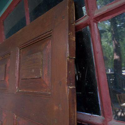 Antique Hand Made Wooden Cross & Book Door, Bennington Knob,Through Tenon,1840's 7