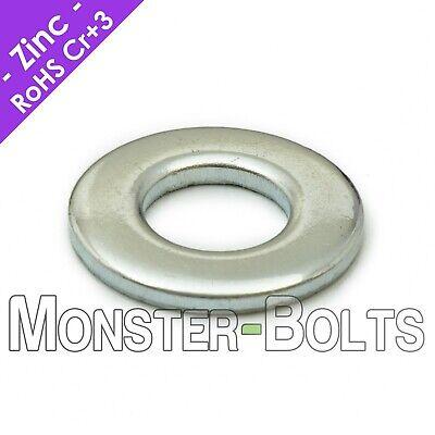 """100pcs Flat steel washer #12 black zinc plated 0.250""""x0.562""""x0.055"""" 315-126"""