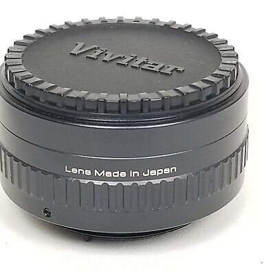 Vivitar Automatic Tele Converter Lens 2×-1  with Lens Covers and Case 4