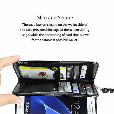 Flip Magnet Leather WALLET Case Cover for Samsung S10 S9 S8 Plus Note 10 9 8 5G 6