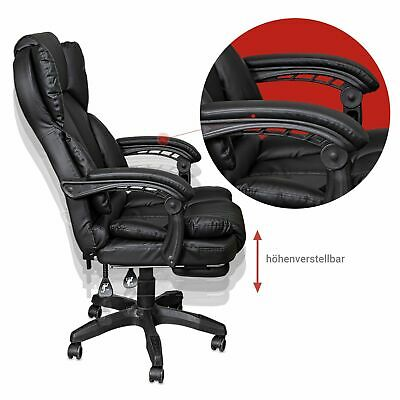 Schreibtischstuhl Bürostuhl Gamingstuhl Racing Chair Chefsessel mit Fußstütze 4