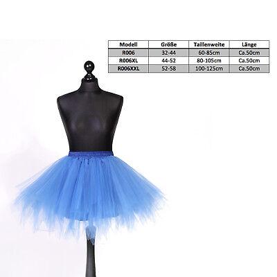 Tütü Petticoat Tüllrock Reifrock Ballettrock Karneval asymmetrisch Damen Kinder 2