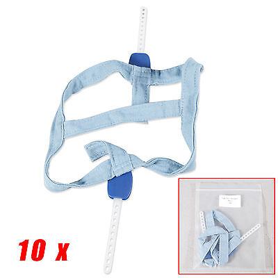 10X NEW Dental Orthodontic Headgear Safety Blue Strap High Pull Strap Small uIVZ
