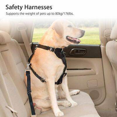2 Pack Cat Dog Pet Safety Seatbelt for Car Seat Belt Adjustable Harness Lead 3