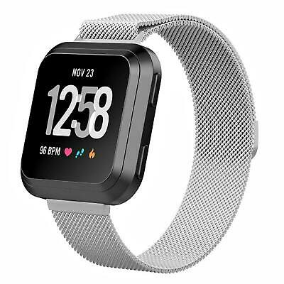 For Fitbit Versa Milanese Watch Band Strap Wrist Magnetic Stainless Steel Loop 3