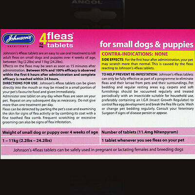 Johnsons 4Fleas 6 Tablet Pack Starts To Kill Dog & Cat Fleas In 15 Minutes-Rspca 7