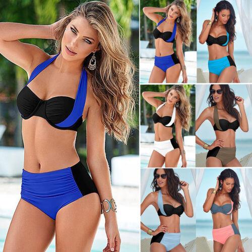 7e2951773fca6 DAMEN HIGH WAIST Bikini Set Push Up Bügel Bh Bademode Badeanzug  Schwimmanzug 44