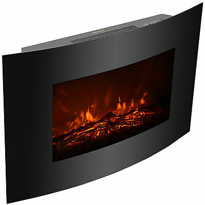 Adjustable Xl Large 1500w Electric Fireplace Wall Mount Heater