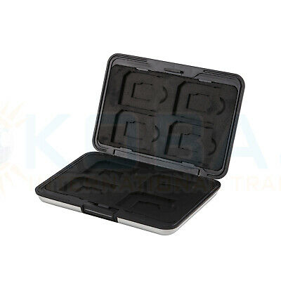 Memory Card Storage Box Case Holder with 8 Slots for SD SDHC MMC Micro SD Cards 10