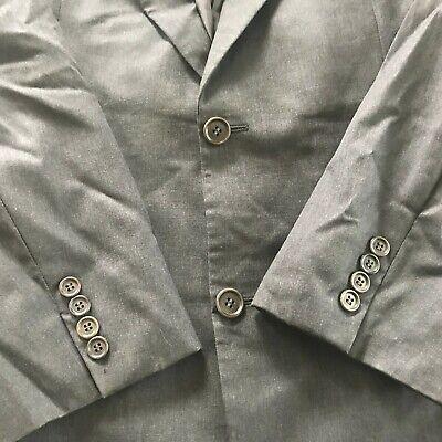 Hugo Boss Sz 42 R Gray Wool Two Button Men's Sports Coat Blazer 3