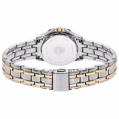 Citizen Eco-Drive Women's EW2364-50A Two-Tone Diamond Bezel Bracelet 26mm Watch 8