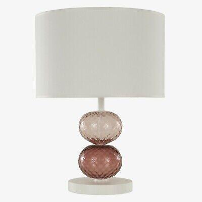 Lámpara de Mesa con Pantalla Bolas Vidrio de Murano Colores E Base Lacado 2