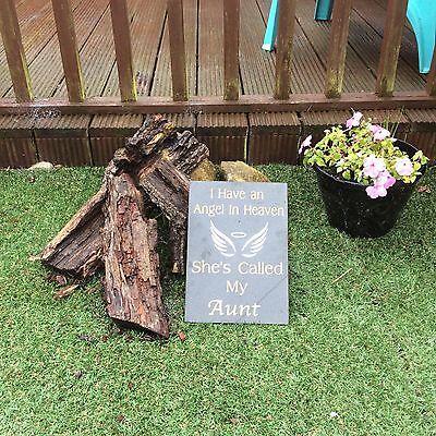 Personalised  Black Granite Memorial Plaque Grave Stone Marker Headstone 30x21cm 8