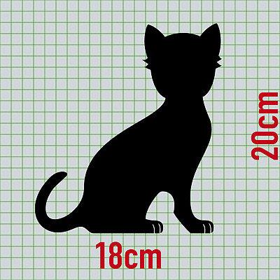 2 Katzen rechts + Pfötchen schwarz Aufkleber Tattoo Deko Folie Auto Balkon Tür 2