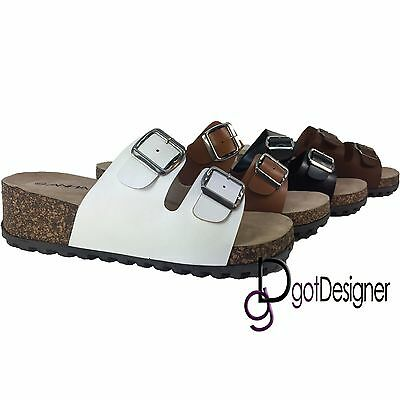 New Ladies/' Casual Buckle Straps Sandals Thong Flip Flop Soft Footbed***Revo-2