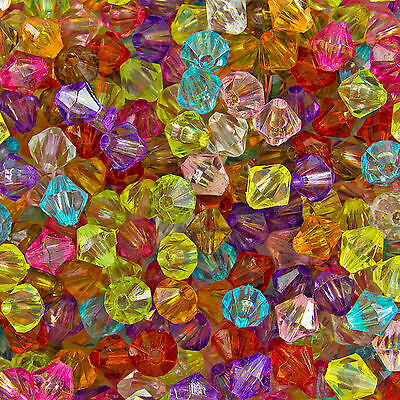 500pcs Loose Glass Crystal Bicone Shaped Spacer Beads For Jewelry Making 4/6mm~~ 4